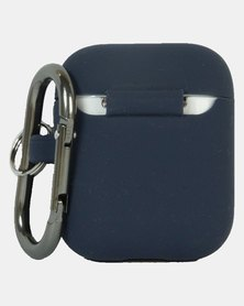 Airpods Case With Carabiner Ultra Thin - Navy