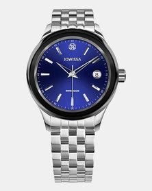 Jowissa Tiro Swiss Men's Watch - Silver Black and Blue