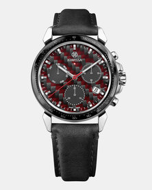 Jowissa LeWy 18 Chronograph Swiss Chronograph Men's Watch Black and Red
