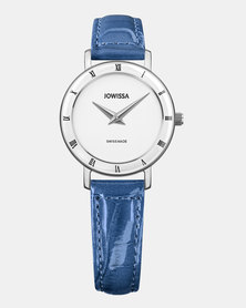Jowissa Roma Swiss Ladies Watch Ocean Blue and White