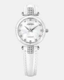 Jowissa Facet Strass Swiss Ladies Watch White