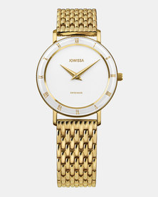 Jowissa Roma Swiss Ladies Watch Gold and White