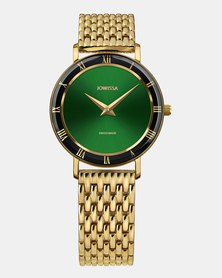 Jowissa Roma Swiss Ladies Watch Gold Black and Green