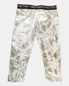 Blukids Girls Leggings White/Silver