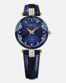 Facet Strass Swiss Ladies Watch Blue