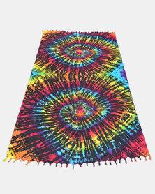 SKA Tie Dye Sarong Dark Rainbow
