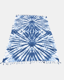 SKA Tie Dye Sarong White and Blue