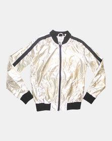 Blukids Girls Jacket Silver