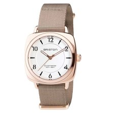Briston Clubmaster Chic Steel Gold Rose Gold Taupe and White