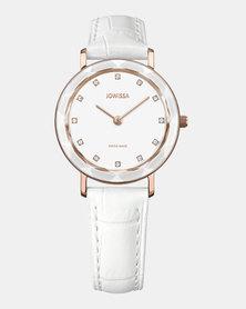 Jowissa Aura Swiss Ladies Watch White and Rose Gold