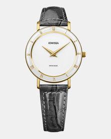 Jowissa Roma Swiss Ladies Watch White Grey Black and Gold