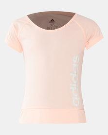 adidas Originals Girls Logo Print Tee Pink