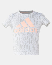 adidas Originals Boys White Logo Tee
