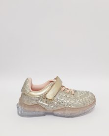 Anjo Couture Glitter Trainer Rose Gold