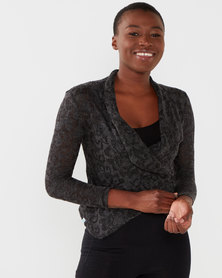 Cadance Mami Long Sleeved Top Charcoal