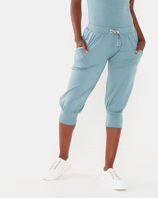 Cadance Thato 3/4 Slouchy Pants Dusty Green
