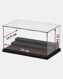Assembly Transparent Display Case for LEGO Minifigures - Black