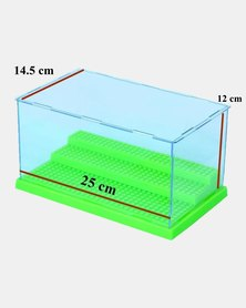 Assembly Transparent Display Case for LEGO Minifigures - Green