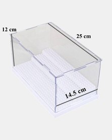 Assembly Transparent Display Case for LEGO Minifigures - White