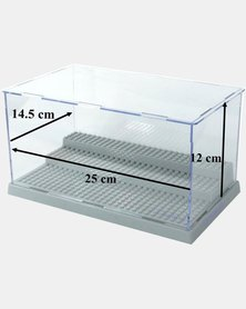 Assembly Transparent Display Case for LEGO Minifigures - Grey