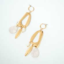 Brisbane Hoop and Fresh Water Pearl Drop Earrings