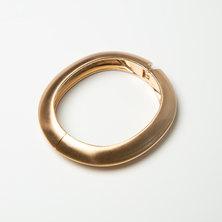 Dubai Brushed Gold Hinged Cuff