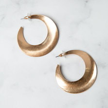 Athens Shaped Worn Gold Hoops