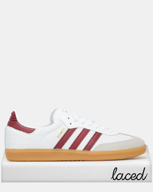 adidas Originals Samba OG Sneakers White/Burgundy/Green