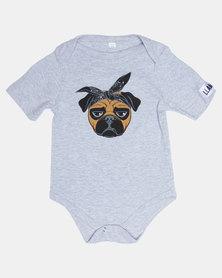Phoenix & the Llama Pug Life Body Vest Grey