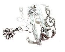 Urban Charm Festive Xmas tree Infinity Charms Bracelet - White