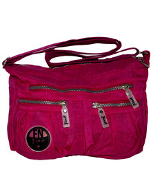 Fino Washed Nylon Fashion Shoulder Bag-PINK