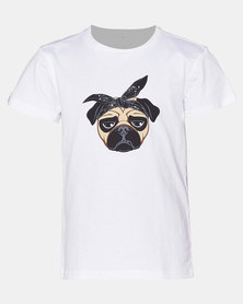 Phoenix & the Llama Pug Life T Shirt Slim Fit