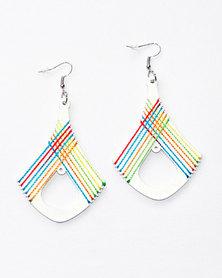 Karmiessentials Retro Rhombus Hollow Earring - White