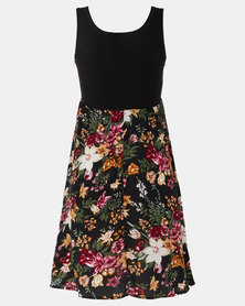Absolute Maternity Red Floral Skater Dress
