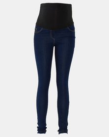 Absolute Maternity  Stretch Skinny Jeans with Elasticated Overbelly  Band