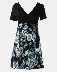 Absolute Maternity Paisley Print Skater Dress