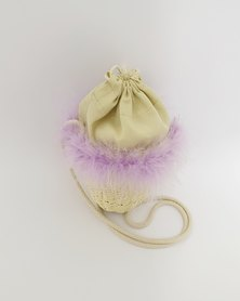 Anjo Couture Rattan Bag - Purple