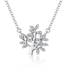 Silver Belle Sterling Silver Joined Tree Of Life Necklace