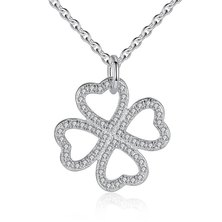 Silver Belle Sterling Silver Love Clover Necklace