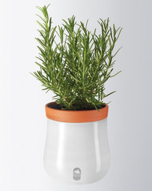 Leonardo Self-Watering Plant Pot Planter White Serra Large