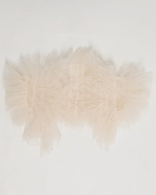 Anjo Couture Ruffle Ponjo /Jacket - Nude