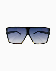 Miss Boss Fashion Luxe Rectangular Ombre Sunglasses in Black