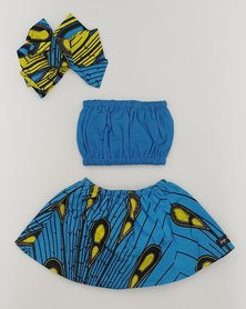 Anjo Couture Baby Three Piece Set- Blue