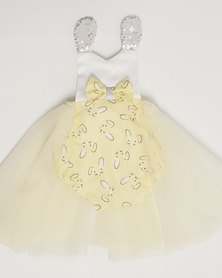 Anjo Couture Bunny Romper/Dress - Yellow