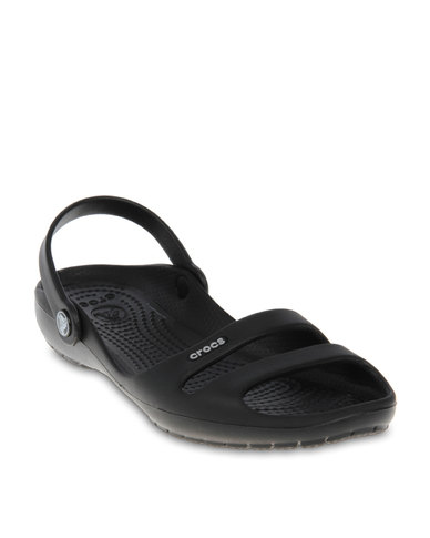 cf93b9d2ecb6 Crocs Cleo II Casual Sandals Black