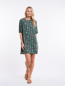 All About Eve BOTANICAL SHIFT DRESS