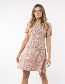 All About Eve Painted Dot Fit & Flare Dress