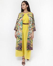 Mamoosh Persian tile kimono yellow