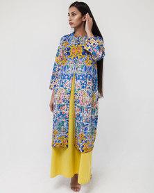 Mamoosh Persian tile kimono blue & pink