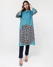Mamoosh Persian tile kimono turquoise
